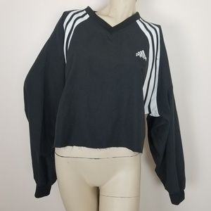 Adidas cropped lightweight pullover jacket